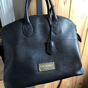 Black leather Valentino bag